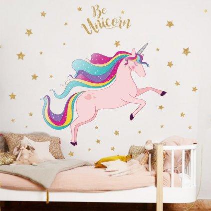 """Autocolant de perete """"Unicorn"""" 80x72 cm"""