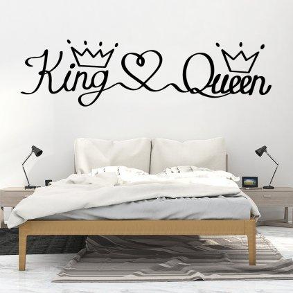"""Autocolant de perete """"King & Queen"""" 43x150 cm"""
