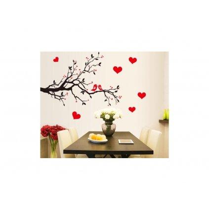 """Autocolant de perete """"Copacul iubirii""""  60x85 cm"""