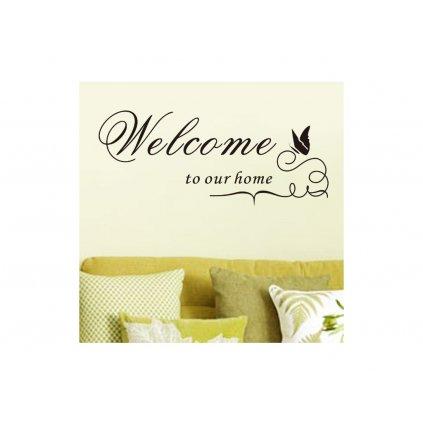 "Autocolant de perete ""Welcome"" 60x25 cm"
