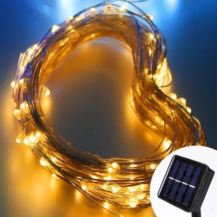 Lanț luminos solar LED - 12 m