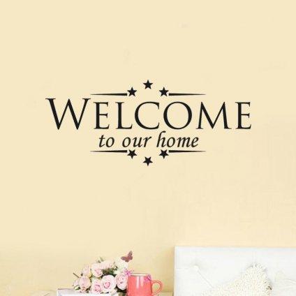 samolepka na stenu welcome to our home nalepka vitajte vinylova tapeta dekoracia stylovydomov