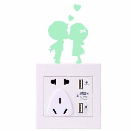 samolepka na stenu pre deti detska fosforova svietiaca nalepka zalubene deti nahlad stylovydomov