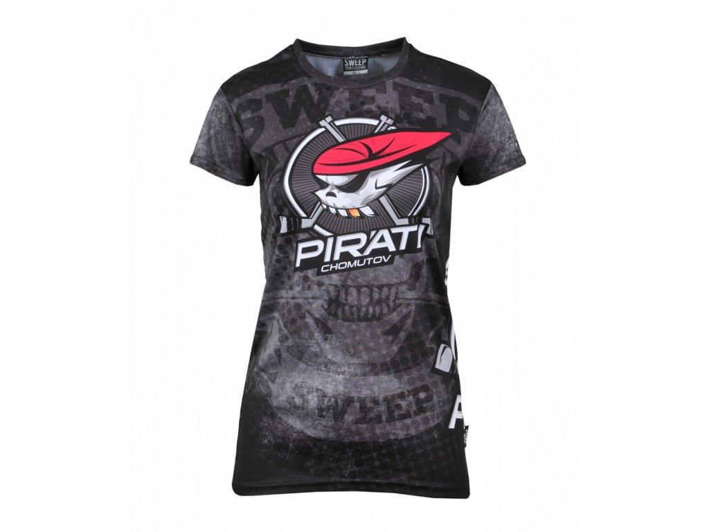 6a768b6f3d6b Dámské tričko Piráti SWEEP růžový znak - PIRÁTI SHOP