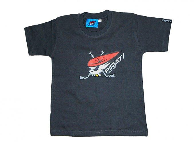 Dětské tričko PIRÁTI šedé