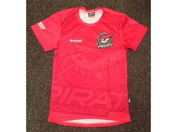 Dámské tričko RESTART růžové Piráti SWEEP
