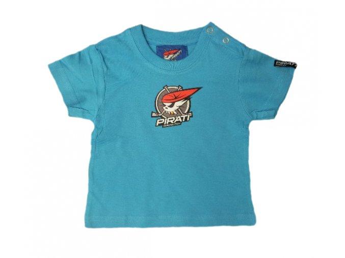Tričko PIRÁTI BABY tyrkysové