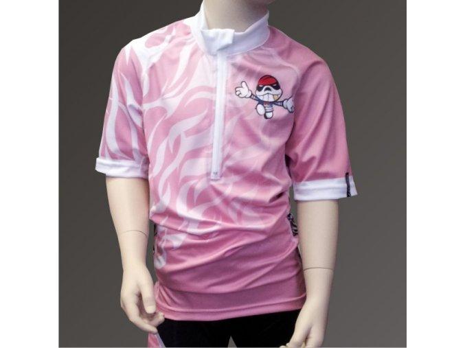 Dětský cyklo dres PICAROON pink