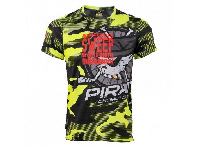 Pánské tričko Piráti SWEEP yellow fluo