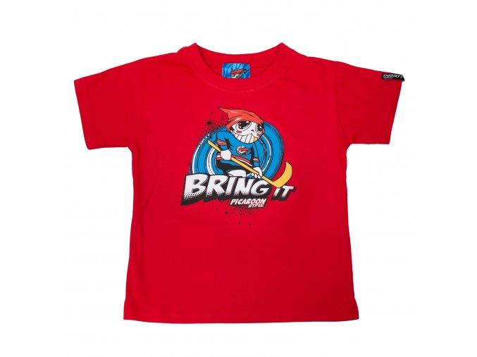 Dětské tričko PICAROON BRING IT red
