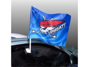 Vlajka na auto PIRÁTI CHOMUTOV s držákem