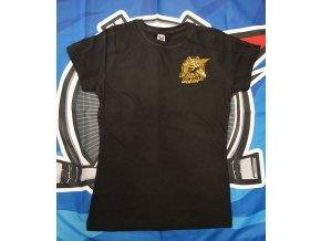 Dámské tričko černo-zlaté PIRÁTI CHOMUTOV