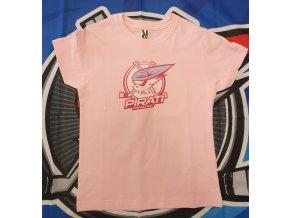 Dětské tričko růžové PIRÁTI CHOMUTOV