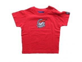 Tričko PIRÁTI BABY red