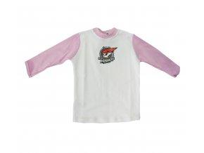Tričko PIRÁTI BABY pink dlouhý rukáv