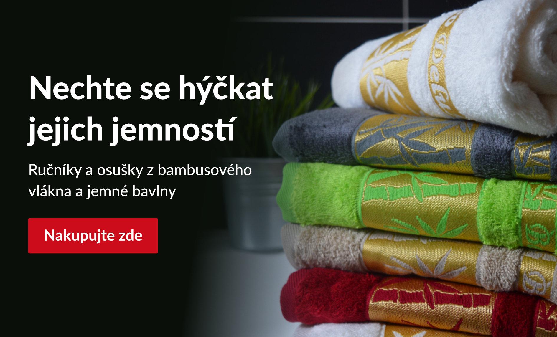 Bambusové ručníky a osušky za výjimečné ceny