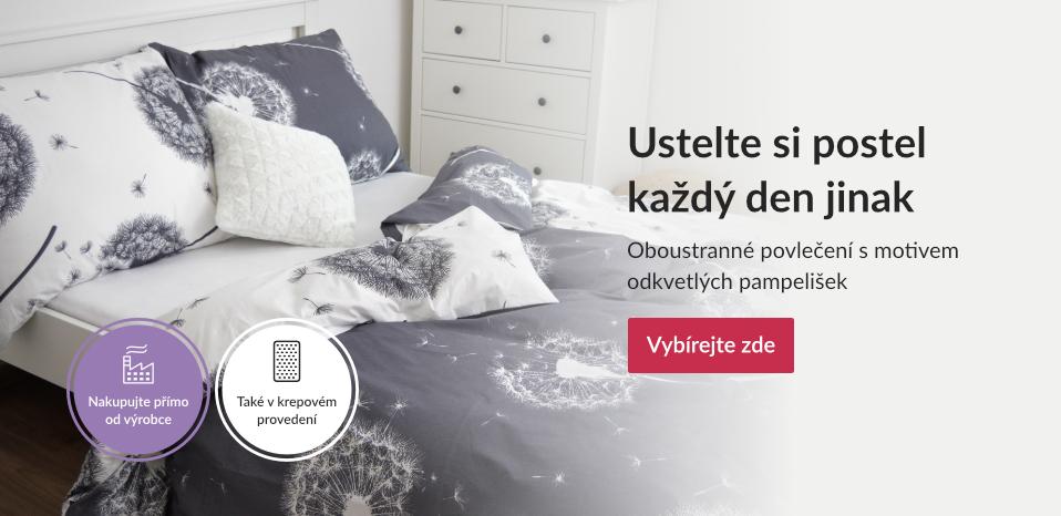 Pampelišky - buďte originální a ustelte si postel každý den jinak