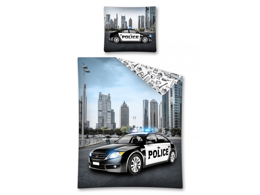 Bavlněné povlečení - Policie - 140x200 + 70x80