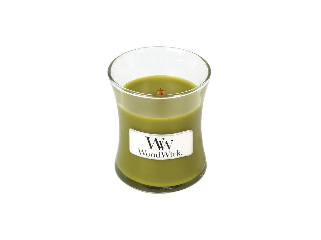 Svíčka oválná váza  WoodWick 85g - Košík jablek