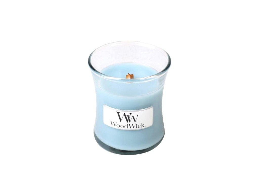 Svíčka oválná váza  WoodWick 85g - Mořská sůl a bavlna