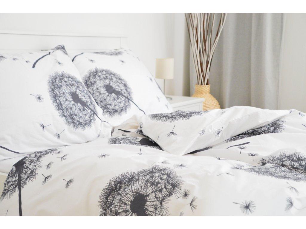 Metráž bavlna - Pampelišky bílé