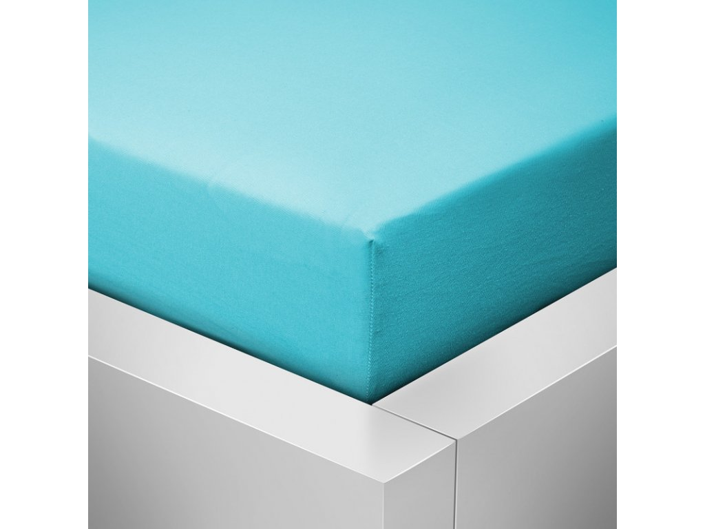 Jersey prostěradlo  LYCRA 90x200 / 25cm - modré