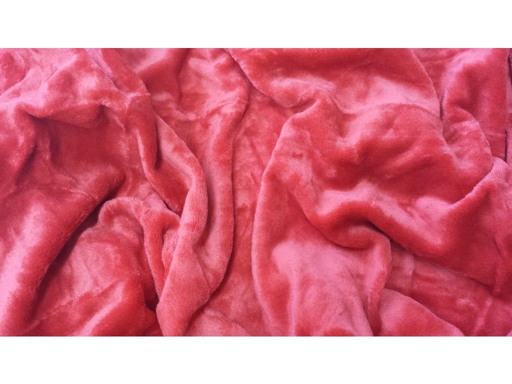 Mikroplyšové prostěradlo 90x200 - tmavě červené