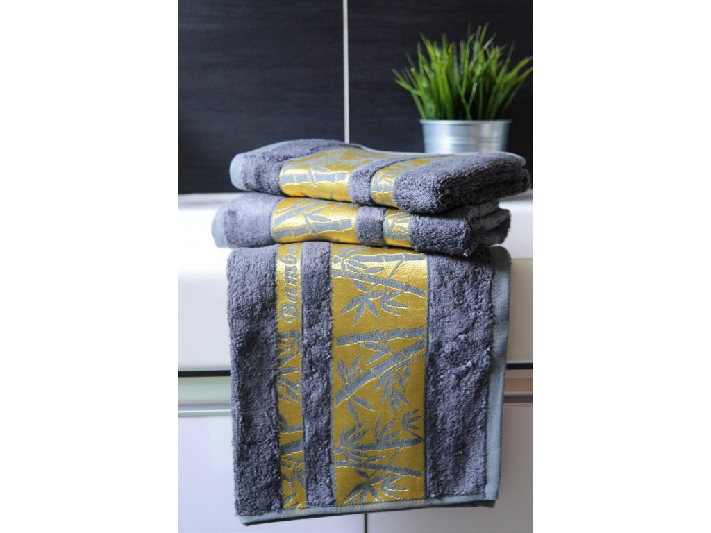 Bambusový ručník BAMBOO Exclusive - Šedý antracit 50x90