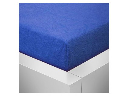 Froté prostěradlo  90x200 /25cm - tmavě modré