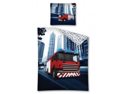 Bavlněné povlečení - HASIČI - 140x200 + 70x80