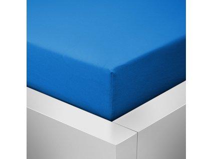 Jersey prostěradlo  LYCRA 90x200 / 25cm - tmavě modré