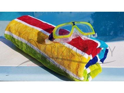 Plážová osuška barevné pruhy - 90x160