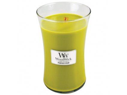 Svíčka oválná váza  WoodWick  609,5g - Hruška
