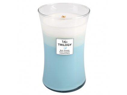 Svíčka oválná váza  WoodWick Trilogy 609,5 g - Svěžest a čistota