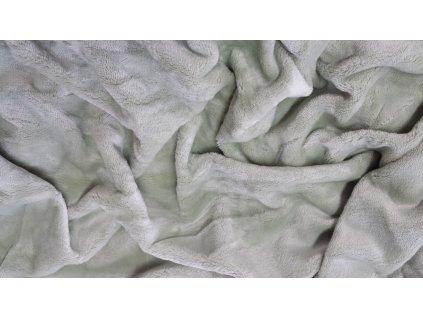 Mikroplyšové prostěradlo 180x200 - světle šedé