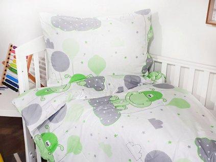 Dětské povlečení - Hrošík zelený