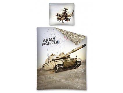 Bavlněné povlečení - Army - Tank - 140x200 + 70x80