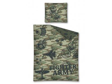 Bavlněné povlečení - Fighter Army - 140x200 + 70x80