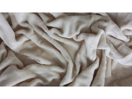 Mikroplyšová deka - Béžová