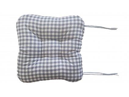 Sedák na křeslo - Kostička šedá