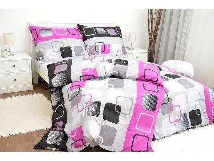 Metráž bavlna - Obrazovky růžové