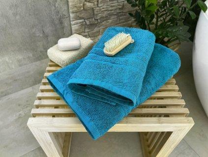 Froté osuška HOTEL 500g - Azurově modrá 70x140