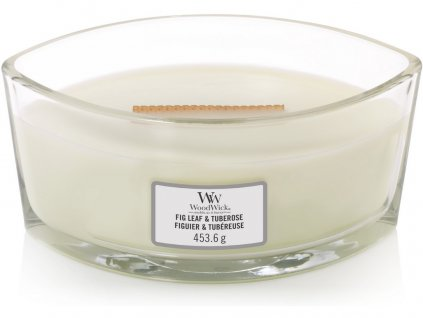 Svíčka oválná váza  WoodWick  454g - Fíkový list a tuberóza