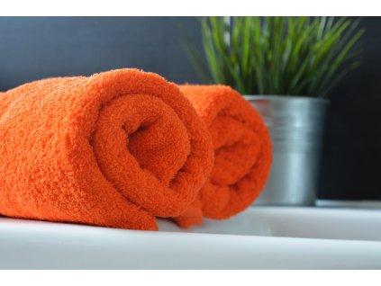 Froté ručník 30x50 - Oranžový
