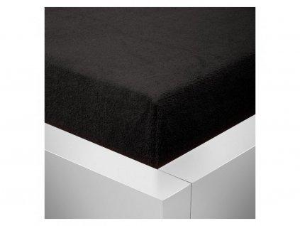 Froté prostěradlo 180x200 - černé