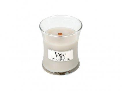 Svíčka oválná váza  WoodWick 85g - Hřejivá vlna