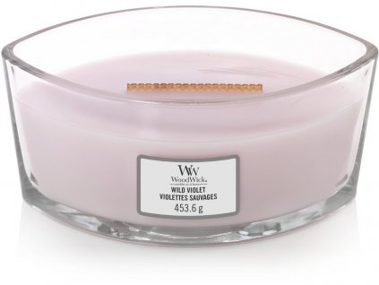 Svíčka oválná váza  WoodWick  454g - Divoká fialka