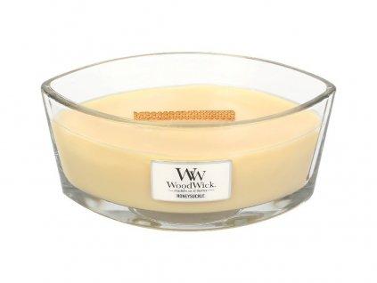 Svíčka oválná váza  WoodWick  454g - Zimolez a jasmín