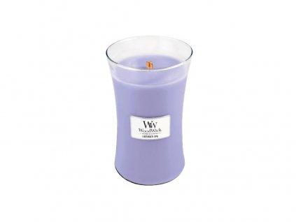 Svíčka oválná váza  WoodWick  609,5g - Levandulová lázeň