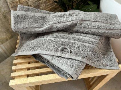 Froté ručník HOTEL 500g - Světle šedý 50x100
